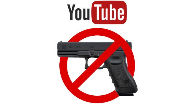 Ограничения на канале YouTube для оружейного контента