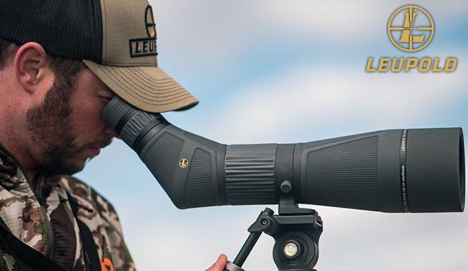 оптическая зрительная труба Leupold SX-4 Pro Guide HD на штативе
