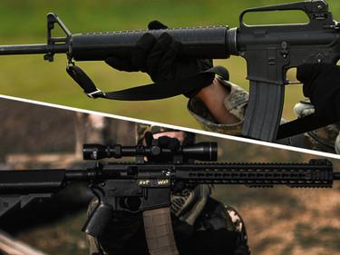 Отличия между M-16 и AR-15