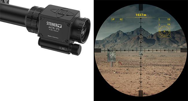 мнимое поле зрения и перекрестие Steiner M7Xi IFS 4-28×56