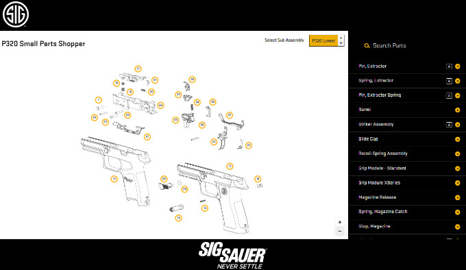 Sig Sauer Small Parts Shopper (parts-picker)