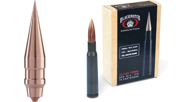 пуля и патрон 50 BMG Blackwater Ammunition