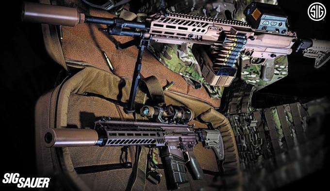 новые пулемёт и винтовка армии США