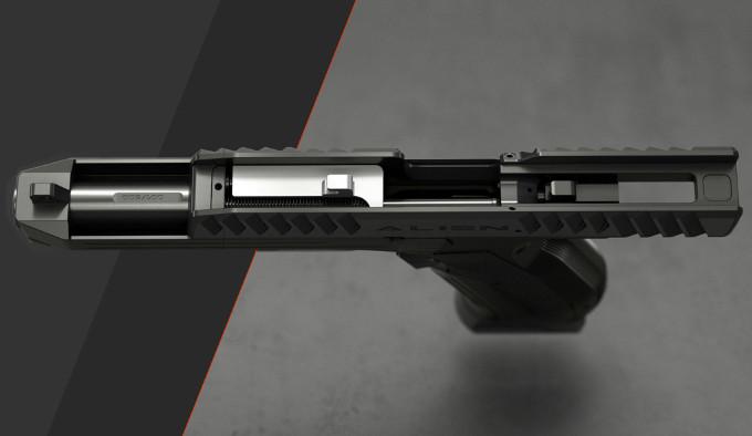 Пистолет Laugo Arms Alien без верхней крышки