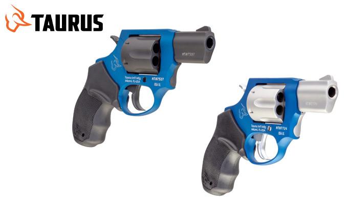 револьвер с синей рамой