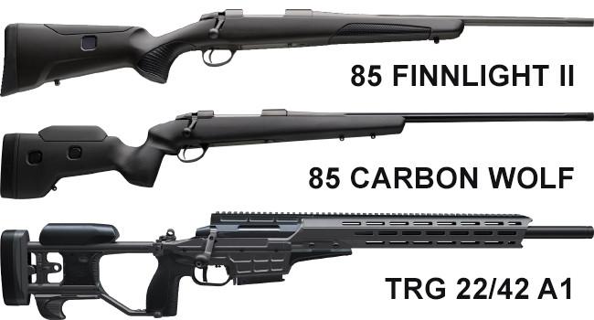Новые винтовки Sako 85 Finlight II, 85 Carbon Wolf и TRG 22/42 A1