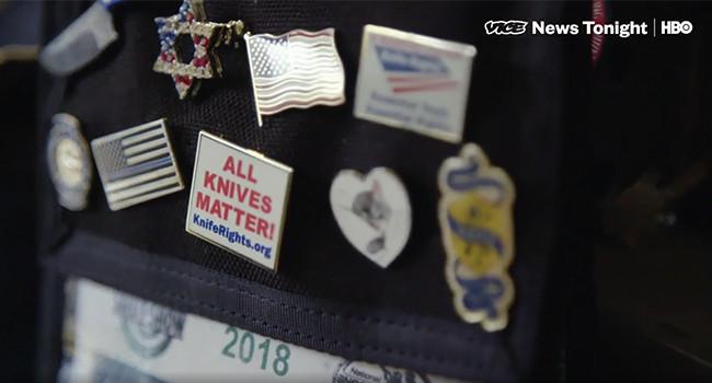 значки солидарности Knife Rights