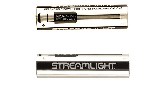 Аккумулятор Streamlight 18650 USB сбоку