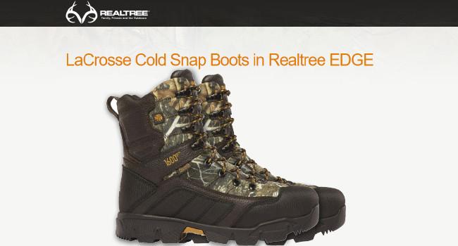 Охотничьи ботинки LaCrosse Cold Snap Realtree EDGE