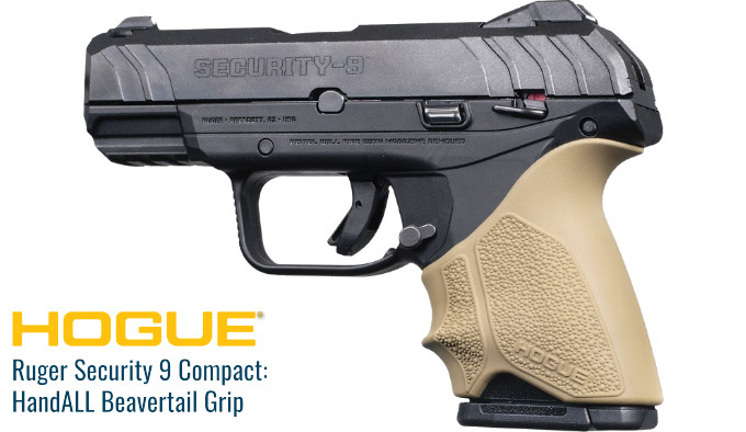 Hogue HandALL Beavertail Ruger Security-9 Compact