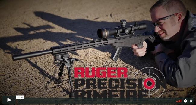 ВидеоRuger Precision Rimfire на официальном сайте: