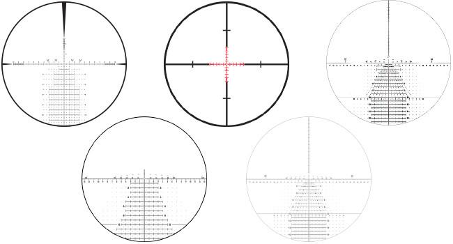 перекрестия Leupold:  CCH, H59, TMR, Tremor, Tremor3