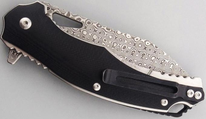 универсальный складной нож из дамасска
