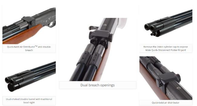 Пневматическое двухствольное PCP ружье Seneca Double Shot