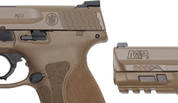 полимерный пистолет FDE цвета