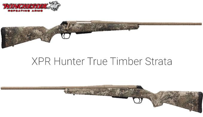 охотничья болтовая винтовка в ложей в камуфляжном рисунке TrueTimber Strata