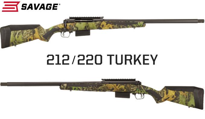 Болтовые ружья Savage 212 и 220 Turkey