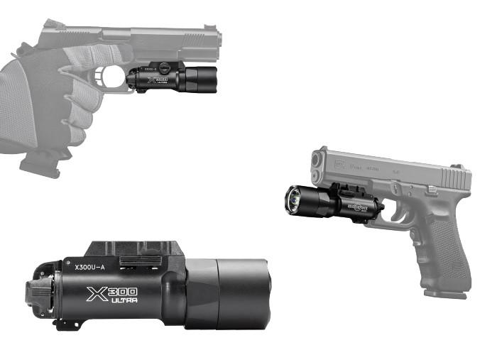 фонари SureFire X300U на оружии