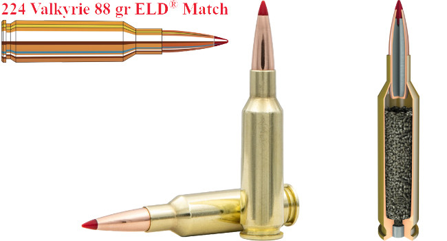 Hornady 224 Valkyrie 88 gr ELD Match