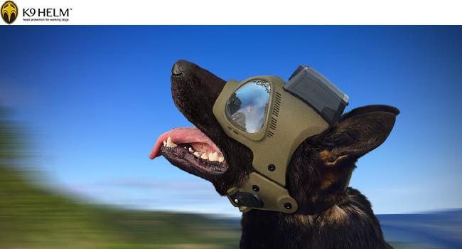 Тактический шлем для собак K9 Trident