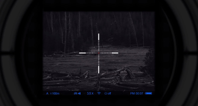 изображение на экране Pulsar Digisight Ultra N355