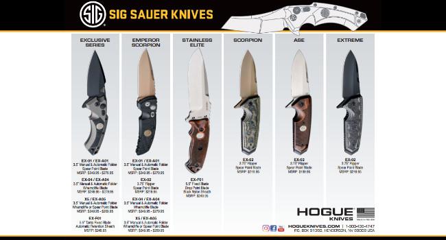 пресс-релиз ножей Hogue Sig Sauer