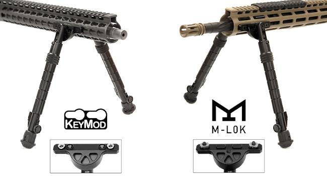 стандарты креплений KeyMod и M-LOK