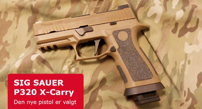 Новый пистолет Армии Дании SIG Sauer P320 X-Carry
