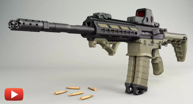 Стрельба из сдвоенной винтовки Gilboa Snake