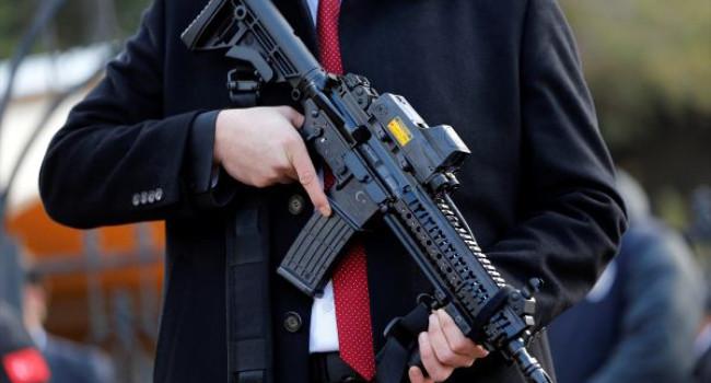 Охранная служба президента Турции c винтовками MKEK MPT-55