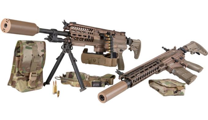 винтовка и легкий пулемет армии США
