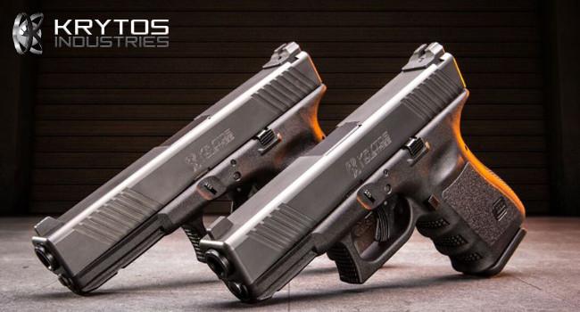 Пистолеты Glock с титановыми затворными рамками Krytos Industries
