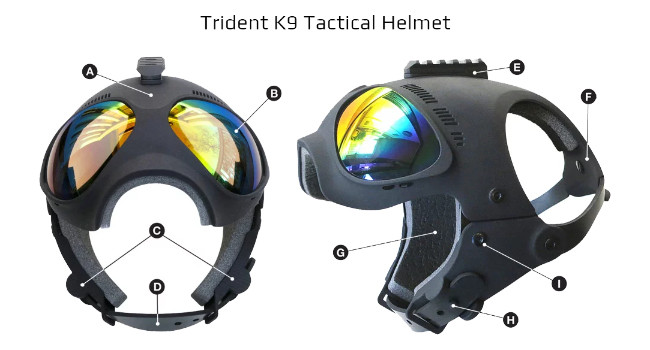 шлем для собак K9 Trident