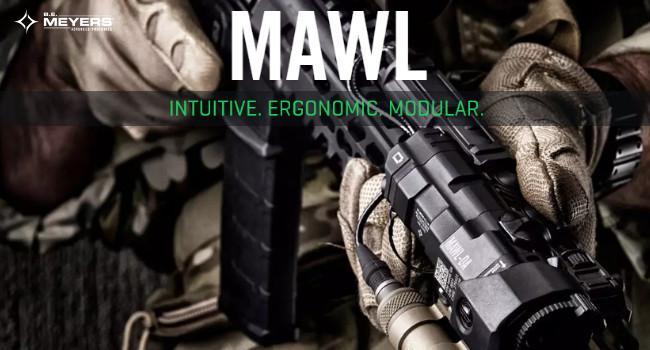 Видео тактического устройства подсветки и прицеливания BE Meyers MAWL-DA