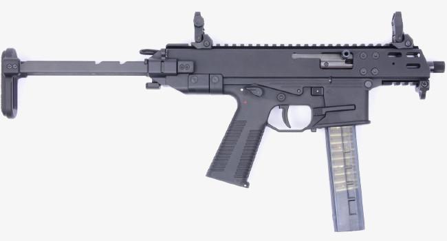 карабин B&T GM9 Compact с открытым телескопическим прикладом