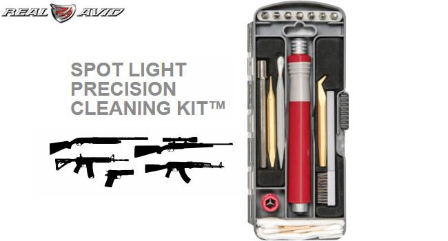 Набор для чистки оружия Real Avid Spot Light PCK с подсветкой