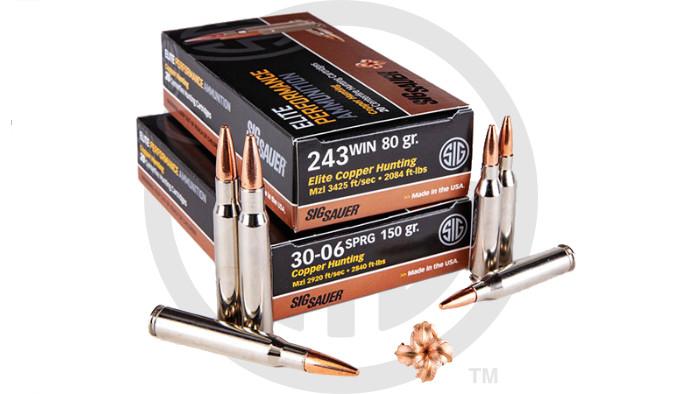 Патроны Sig Sauer Elite Copper Hunting 243 и 30-06