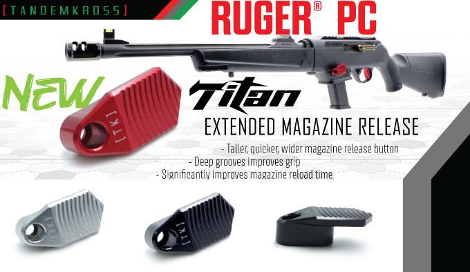 Кнопка затворной задержки TANDEMKROSS Titan для Ruger PC