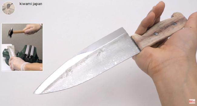 Нож из алюминиевой фольги от kiwami japan