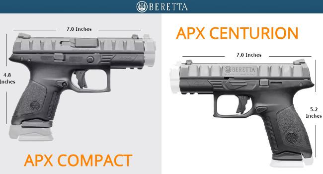 Пистолеты Beretta APX Compact и Centurion
