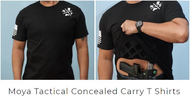 Футболки для скрытной переноски оружия Moya Tactical
