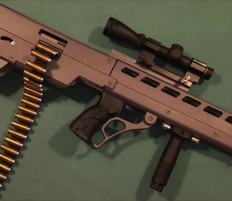 Буллпап с ручной перезарядкой и ленточной подачей патронов от ADF Projects