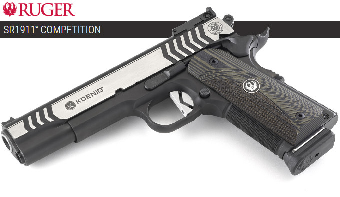 Пистолет Ruger SR1911 Competition .45 Auto