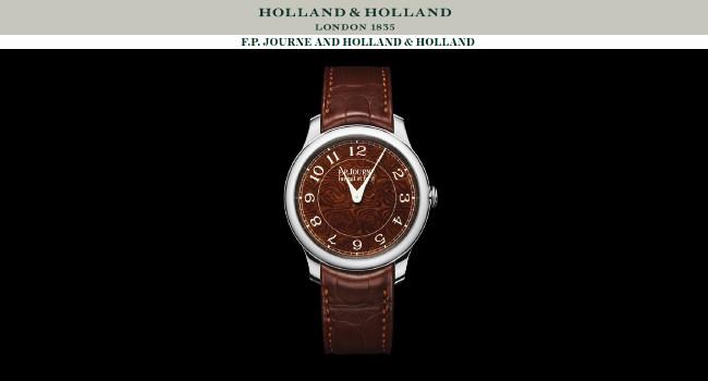 Часы Holland & Holland, изготовленные из оружейной дамасской стали