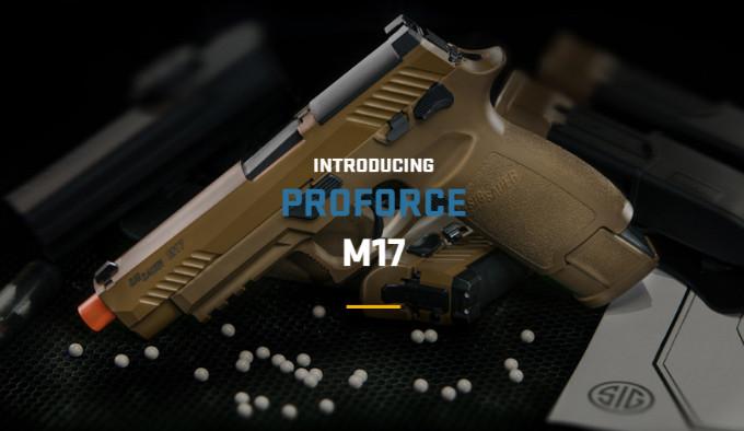 страйкбольный пневматический пистолет копирующий P320-M17