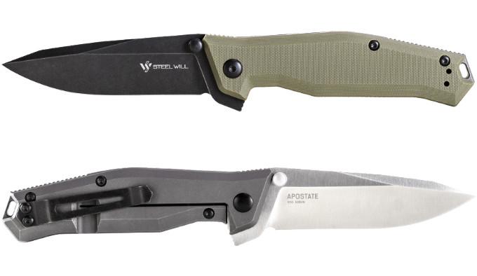 складной нож с титановой рукояткой