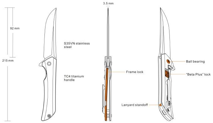 Нож Ruike M121-TZ