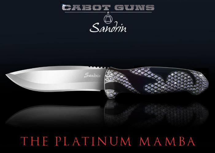 Нож Cabot Guns x Sandrin Knives Platinum Mamba