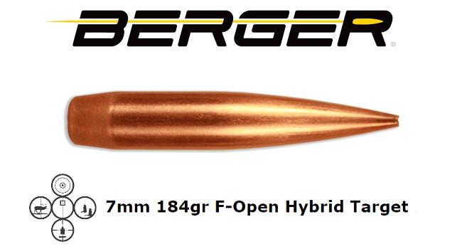 Новые пули Berger 7mm F-Open HT