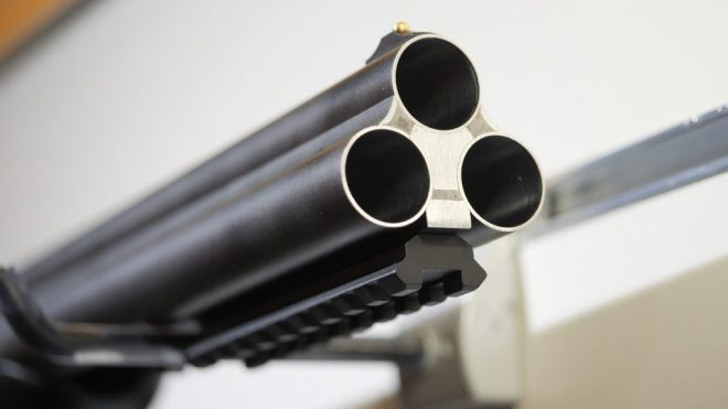 Ружье Honcho Tactical Triple 12GA BBL с планкой weaver